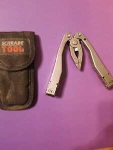 Schrade Tough multi tool folding pliers Made in USA All n onew/sheath FLAWLESS