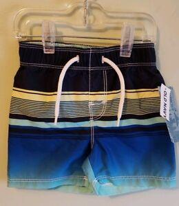 3ad933e8dff7d NEW Old Navy Boys 12-18 MONTH Swim Trunks NAVY STRIPE Bathing Suit ...