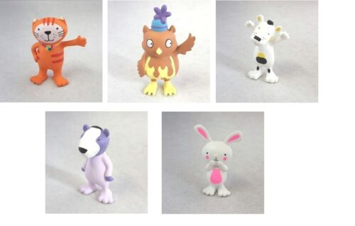 Poppy Cat Play Figures Selection Poppy Cat Alma Comansi ZUZU Egbert Buho