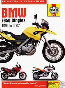 Haynes-Manual-for-BMW-F650-Singles-1994-2007-owners-workshop-HM4761