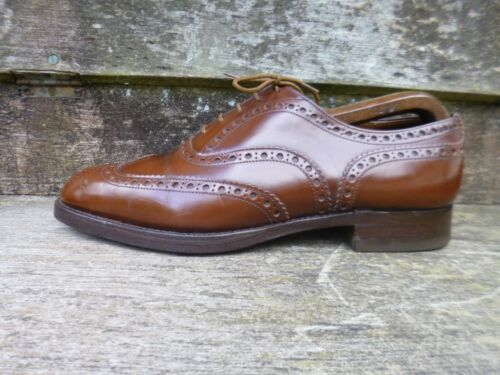 Tan Vintage Excellent 5 Condition Uk Brown Church Brogues Burwood 7 dtFq44