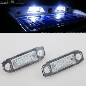 2x error free white led smd license plate lights for volvo. Black Bedroom Furniture Sets. Home Design Ideas