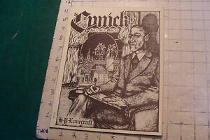 sci fi Zine: THE CYNICK opus 1 #1 for Necronomicon mailing by S T JOSHI 1977
