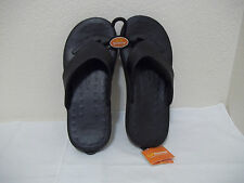 NEW MENS SOFT SCIENCE BLACK CROCS STYLE SANDALS FLIP FLOPS SZ 12