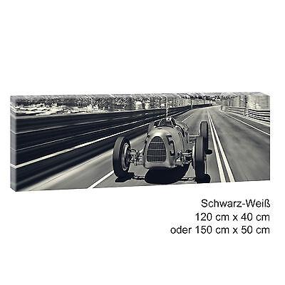 Autorennen Bild auf Leinwand Keilrahmen Wandbild Poster XXL 120 cm*80 cm 541sw