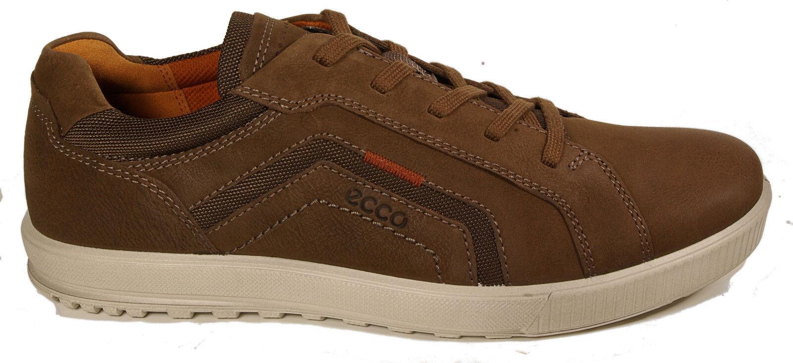 ECCO Schuhe Halbschuhe Modell ENNIO braun Leder Schnürschuhe Wechselfußbett NEU