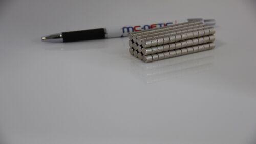 100 Stück Neodym Scheibenmagnete Magnetscheiben 7x5 mm N45 vernickelt sehr stark