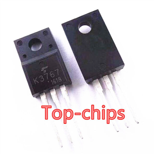 10 PCS 2SK3767 TO-220F K3767 Silicon N Channel MOS Type Switching Regulator