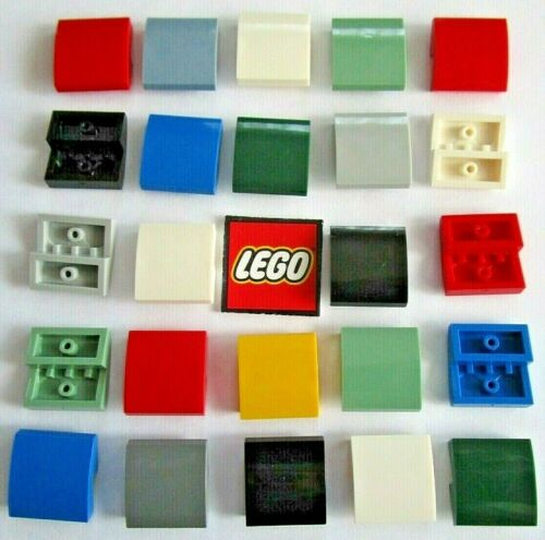 Packs of 8 Choose Colour 15068 LEGO Slope Bricks 2x2X0.66 with Curve Bow
