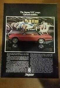 """1977 Jaguar XJC Vintage Magazine Ad """"The Jaguar XJC coupe"""""""