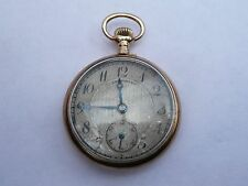 ANTIQUE 30MM 14K SOLID GOLD VICTORIAN LONGINES SMALL POCKET WATCH IN FWO 1913