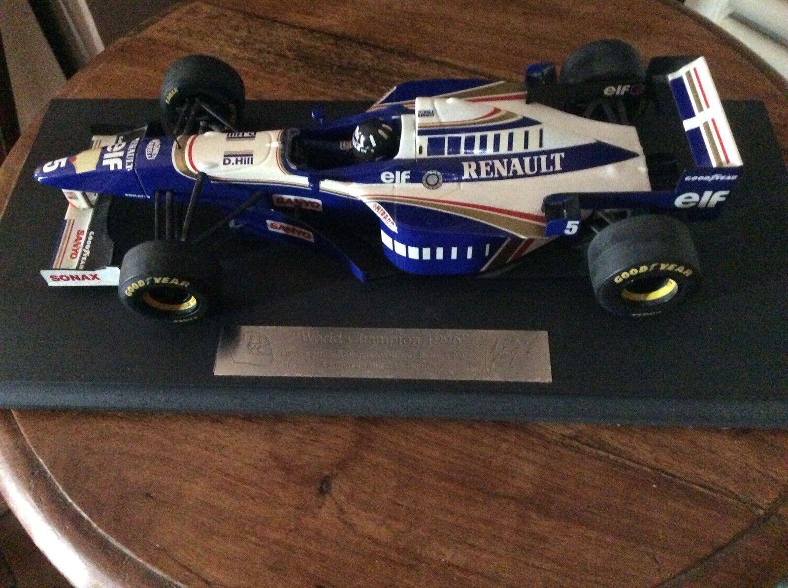 Edición limitada de fórmula uno Damon Hill Williams Renault FW18 1 18 escala Diecast