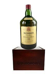 Bottle-Display-Glorifier-2-PACK-Buchanan-039-s-Scotch-Whisky-Logo-Cabernet-Color