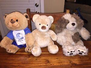 Build a Bear Lot Of 3 Dog Puppy Teddy Bear Plush Stuffed Toy Soft