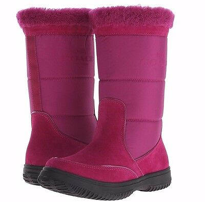 COACH  Sherman Cranberry/Cranberry Pink Suede/Nylon Boot - MSRP $199