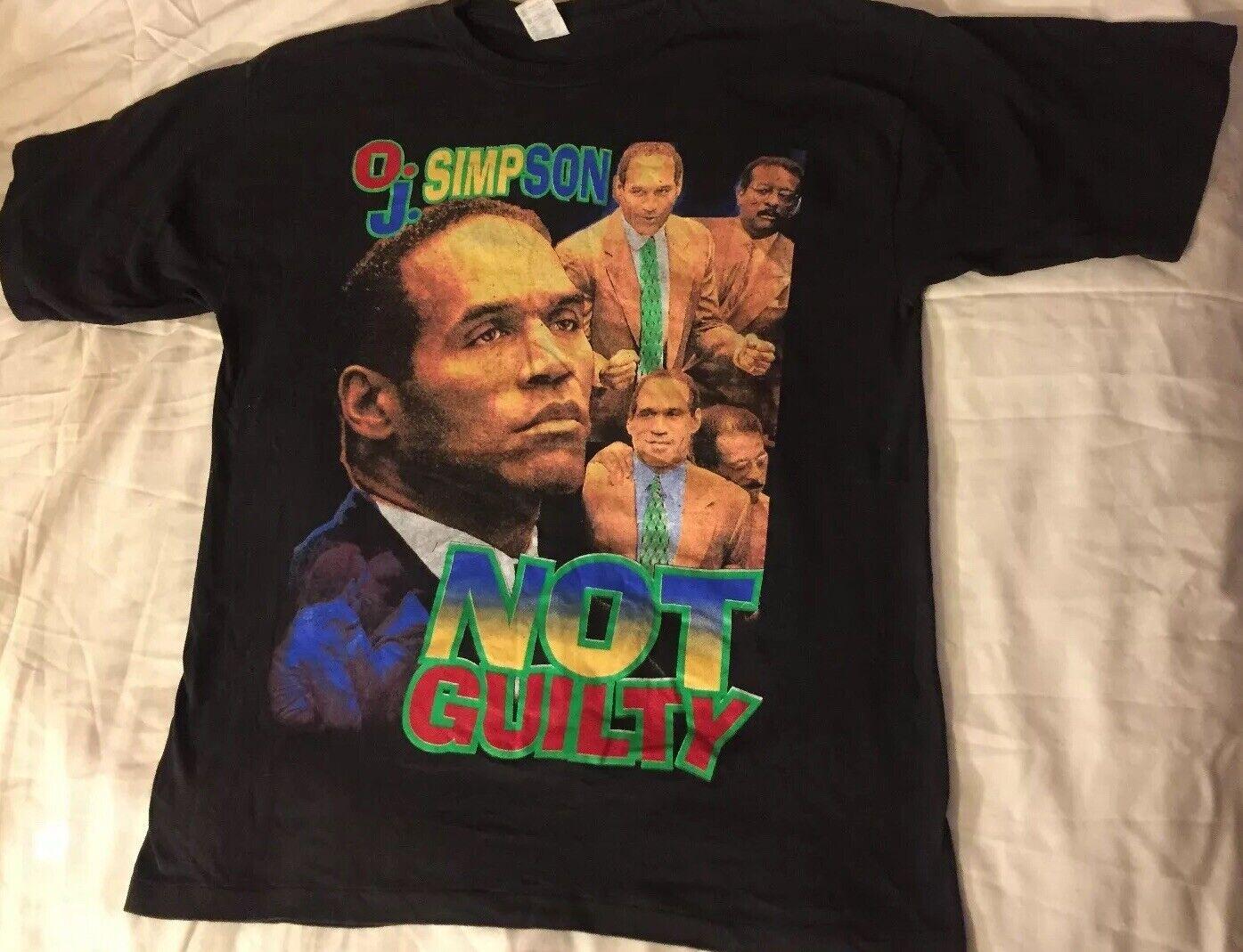 55fe952b Oj 90s Rap Rare Vintage Not Guilty XL Juice Is Loose Shirt Simpson ...