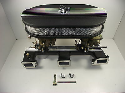 Twin stromberg carby,manifold,air fliter Package holden red 179,186.202 eh,hr.hk