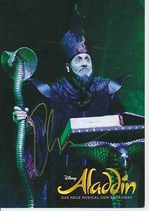 Ethan Freeman  Aladdin  Musical Autogrammkarte signiert 373830