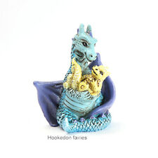 Blue Mom Dragon with Baby GO 17562 Miniature Fairy Garden Dollhouse