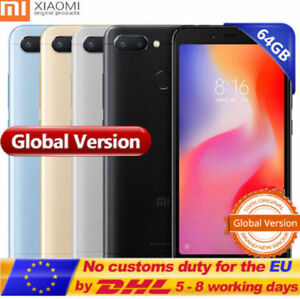 "Xiaomi Redmi 6 5.45"" 4G Téléphone Helio P22 8Core 64GB 12MP 3000mAh Global SALE"