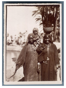 Egypte-Assouan-Nubiennes-d-039-Assouan-Vintage-citrate-print-Tirag