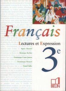 Details Sur Francais 3e Lectures Et Expression Collectif Livre 451409 2220641