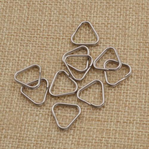 10 piezas Anillos Llavero Broches De Cámara Bolsa Triángulo Correa accesorio de reemplazo