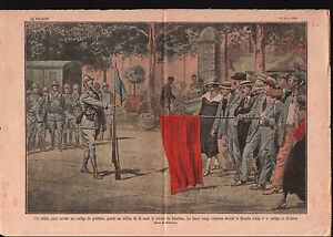 Soldat-Fanion-Bleu-Greviste-Drapeau-Rouge-Manifestation-France-1919-ILLUSTRATION