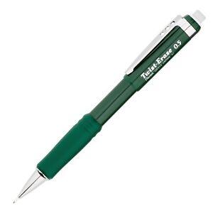 Pentel-QE515D-Twist-Erase-III-Automatic-Pencil-0-5mm-Green-Barrel-Sold-Indivi