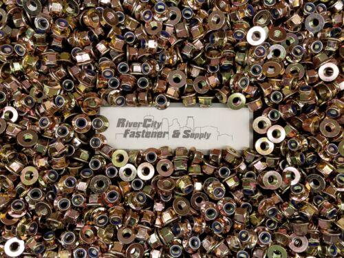 M12-1.75 Metric Hex Flange Stop Lock Nut 25 Nylon Insert 10.9 DIN 6926 12mm