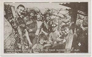 WWI-mint-postcard-LONDON-ROYAL-FUSILIERS-PROUD-AFTER-THIER-SUCCESS-AT-ST-ELOI