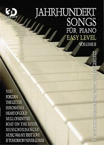 Klavier-Noten-Jahrhundert-Songs-2-fuer-Piano-leichte-Mittelstufe-EASY-LEVEL