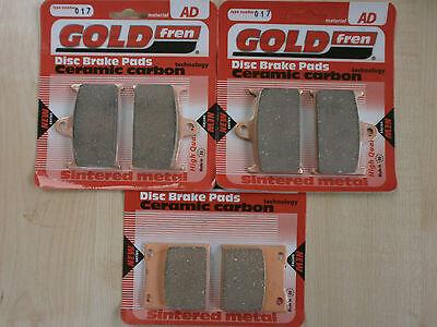 GSXR750 /> SINTERED FRONT BRAKE PADS  *GOLDFREN* 1996 For SUZUKI GSXR 750