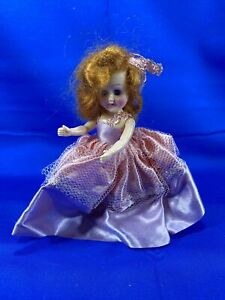 Vintage-Doll-w-Pink-Dress-Sleepy-Eyes-Hard-Plastic-6-034