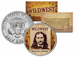 WILD-BILL-HICKOK-Wild-West-Series-JFK-Kennedy-Half-Dollar-U-S-Coin