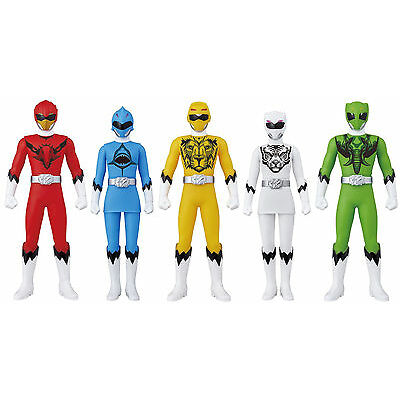Japan Bandai Power Rangers Animal Squadron Zyuohger PVC Soft Vinyl Figures set