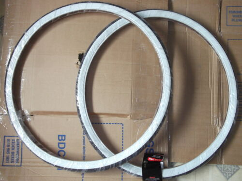 2 X RALEIGH RECORD  RETRO 26 X 1 3/8 WHITE WALL TYRES T1430 or add Tubes
