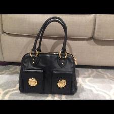 Marc Jacobs Black Leather BLAKE Bag Tote Satchel - Gold Hardware