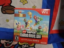 Nintendo Wii  New Super Mario Bros. Wii Game with Cardboard Sleve