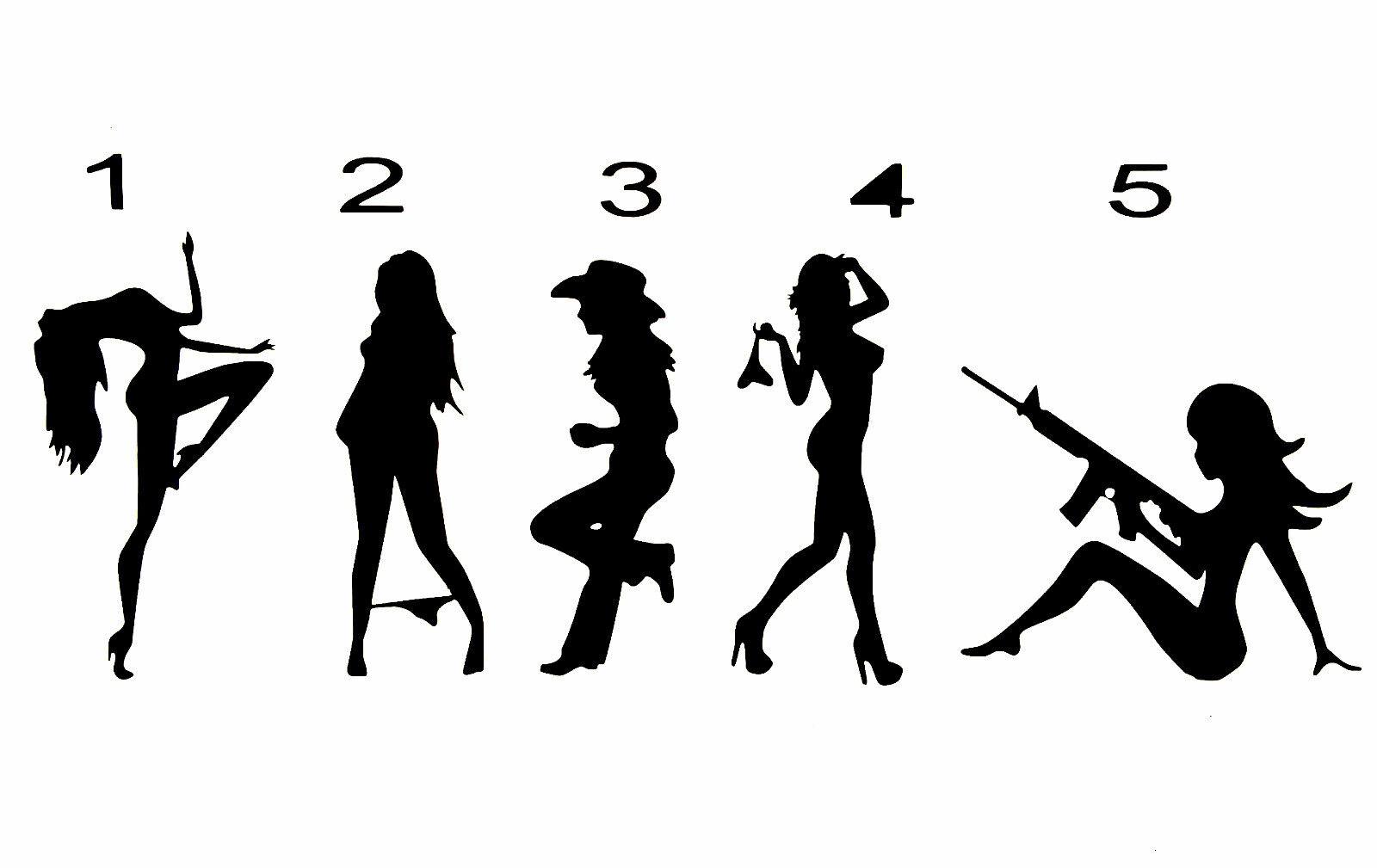 """Ballerina VINYL Decals Sticker 1.5/""""W X 4/""""H  BUY 2  GET 1 FREE"""