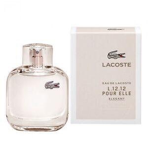 Lacoste Eau de Lacoste L.12.12 Pour Elle Elegant 90ml Edt Spr BRAND NEW IN BOX