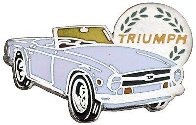 White Triumph Spitfire MkI//II car cut out lapel pin