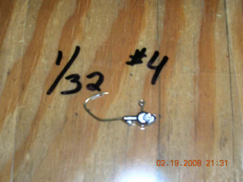 50 1//32oz Minnow Head Jigs on Bronze Sickle Hooks #6 #4 #2 or #1 U Choose