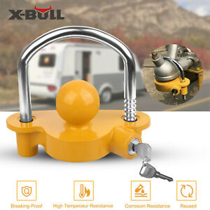 Trailer-Parts-Coupling-Lock-Hitch-Universal-Tow-Ball-Caravan-Antitheft-2-Keys
