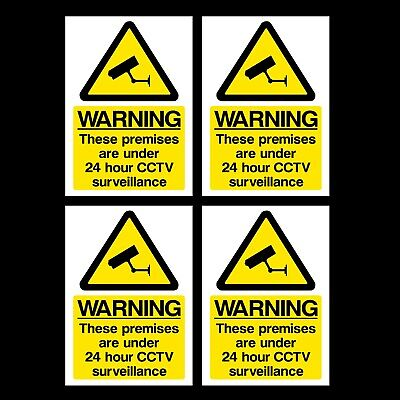 24 HOUR CCTV SURVEILLANCE SIGNS /& STICKERS LARGE SIZES THICK MATERIALS! S24