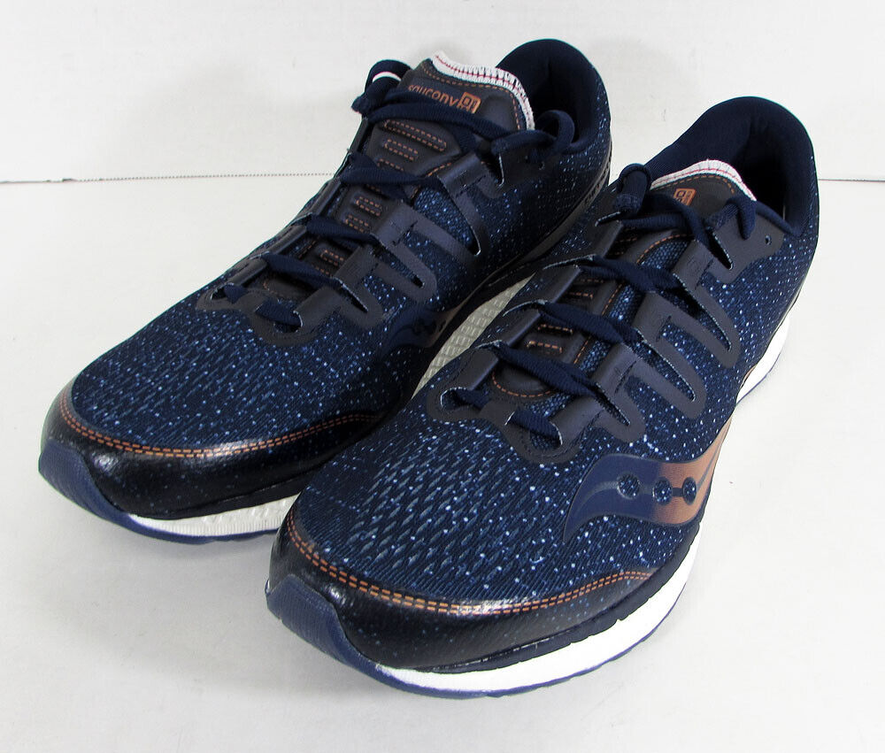160 Saucony Mens Freedom ISO Running Sneaker shoes, Navy Denim Copper, US 12.5