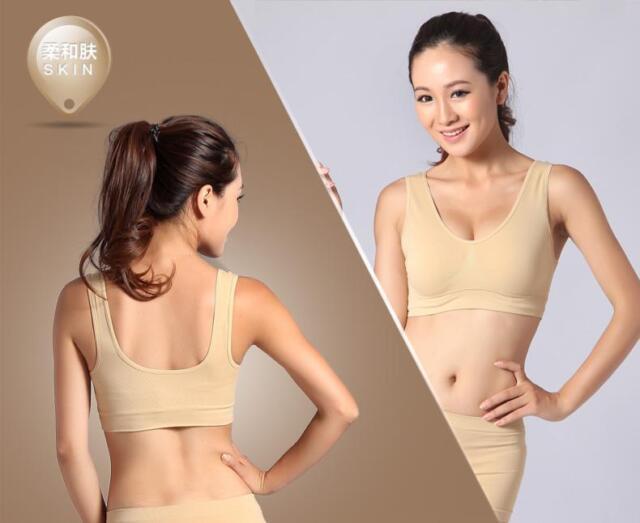 Branded Bamboo Organic Bodywear Basic Shaper Crop Sport Bra Seam Free 3 Colours