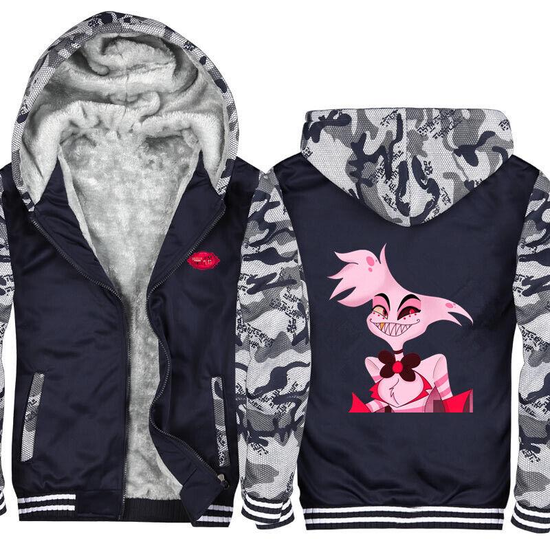 HAZBIN Hotel Hoodie Angel Dust Charlie Husk Pullover Sweatshirt Casual 3D Printed Hoodie Sweatshirt Fashion Casual Jacket Coat Tops