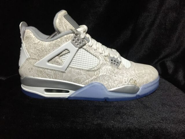 fe80c6950efa4c Nike Air Jordan 4 IV Retro Laser Size 10.5 White Chrome Metallic ...