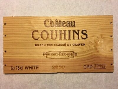 Wine Bags, Boxes & Carriers Friendly 1 Rare Wine Wood Panel Chateau Couhins Vintage Crate Box Side 3/18 120